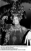 Lord Colin Campbell. Robert Wooley Halloween party. Sotheby's. New York. 1993. Film 93379f22<br />
