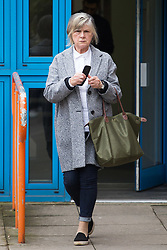 Jill Hollingdale, 72, of Harmondsworth, West London, outside Uxbridge Magistrate's Court where she pleaded guilty to attempting to attack her husband with a meat cleaver. Uxbridge, April 11 2018.