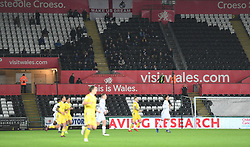 Bristol rovers fans in the away end. - Mandatory by-line: Alex James/JMP - 05/12/2018 - FOOTBALL - Liberty Stadium - Swansea, England - Swansea City U21 v Bristol Rovers - Checkatrade Trophy