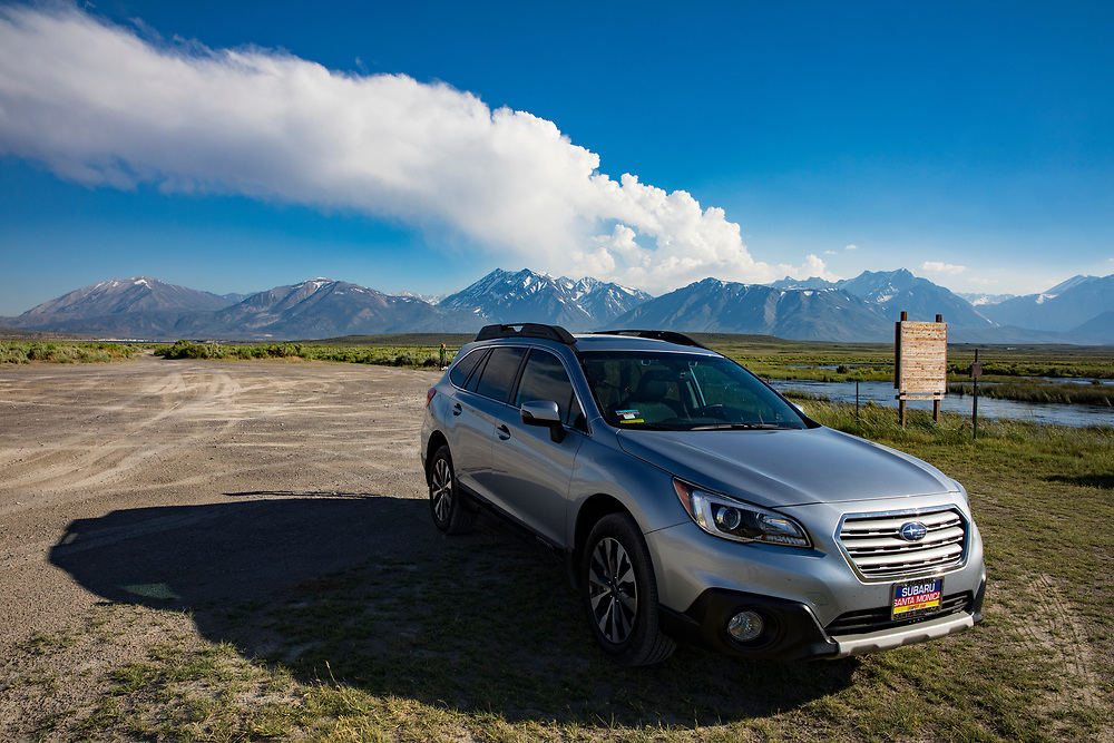 The Eastern Sierra's towns of Mammoth Lakes, June Lakes and surrounding areas weathered a historical and record producing winter snowfall that carried over into the summer. A 2017 Subaru Outback got us where we were going!