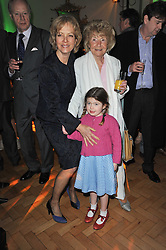 Left to right, JENNY SEAGROVE, HOPE KENWRIGHT and her grandaughter TIGGY at the press night of the new Andrew Lloyd Webber  musical 'The Wizard of Oz' at The London Palladium, Argylle Street, London on 1st March 2011 followed by an aftershow party at One Marylebone, London NW1