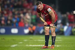 January 19, 2019 - Limerick, Ireland - Peter O'Mahony of Munster very tired during the Heineken Champions Cup match between Munster Rugby and Exeter Chiefs at Thomond Park in Limerick, Ireland on January 19, 2019  (Credit Image: © Andrew Surma/NurPhoto via ZUMA Press)