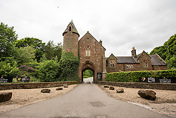 © Licensed to London News Pictures. 25/05/2016. Peckforton UK. Leicester city footballer Jamie Vardy is to mary Becky Nicholson today at Peckforton Castle in Cheshire today. Photo credit: Andrew McCaren/LNP
