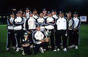 The New Zealand Black Caps team photo after taking the series win. Pakistan Tour of New Zealand. Carisbrook, Dunedin, New Zealand. 28 February 2001. Photo: Dean Treml/Photosport.co.nz