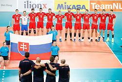 20170617 NED: FIVB Volleybal World League 2017 The Netherlands - Slovakia: Den Haag <br />Team Slovakia<br />&copy;2017-FotoHoogendoorn.nl / Pim Waslander