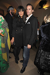 JOSEPH FIENNES and MARIA DOLORES DIEGUEZ at Chaos Point - a fashion show from Viienne Westwood's Gold Label Collection in aid of the NSPCC at The Banqueting House, London SW1 on 18th November 2008.