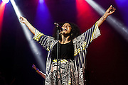 Marsha Ambrosious of the group Floetry performs during Summer Spirit Festival 2015 at Merriweather Post Pavilion in Columbia, MD on Saturday, August 8, 2015.