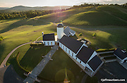 Aerial photography via helicopter of RdV Winery in Delaplane, VA.