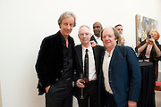 PERRY OOSTING; ANTHONY FAWCETT; RICHARD WILSON, Richard Wilson Vertu Global Art Commission. Saatchi Gallery. Duke of York's HQ. London. 13 April 2011. -DO NOT ARCHIVE-© Copyright Photograph by Dafydd Jones. 248 Clapham Rd. London SW9 0PZ. Tel 0207 820 0771. www.dafjones.com.