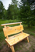 Handmade bench in the Northwoods of Wisconsin