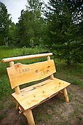 Handmade bench in the Northwoods of Wisconsin