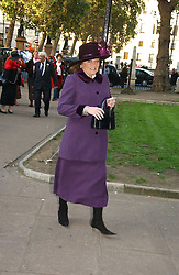 LEONORA, COUNTESS OF LITCHFIELD at the wedding of Clementine Hambro to Orlando Fraser at St.Margarets Westminster Abbey, London on 3rd November 2006.<br /><br />NON EXCLUSIVE - WORLD RIGHTS