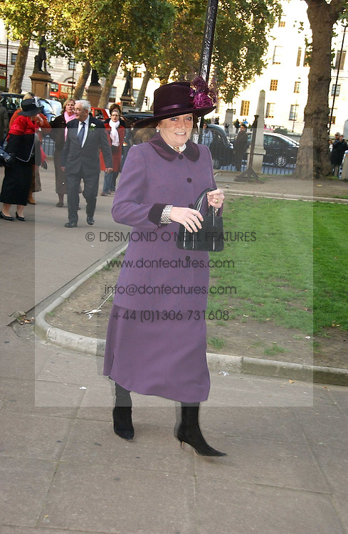 LEONORA, COUNTESS OF LITCHFIELD at the wedding of Clementine Hambro to Orlando Fraser at St.Margarets Westminster Abbey, London on 3rd November 2006.<br />