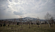 Image shows general view of Sarajevo with Bare Cemetary on the hillside as soldiers on Exercise Civil Bridge today took a cultural tour of the city.<br /> 14/03/2015<br /> <br /> Credit should read: Cpl Mark Larner, Media Ops Group<br /> <br /> Exercise Civil Bridge is an exercise in support of UK Defence Engagement by elements of 77 Brigade. Civil Bridge 14B (CB14B) is being conducted Sarajevo, Bosnia &amp; Herzegovina (BiH).<br /> <br /> By assisting the BiH Government to develop their contingency plans for natural disasters at both strategic and operational levels, CB14B will contribute to the long term international effort to stabilise BiH ethnic groups and authorities.