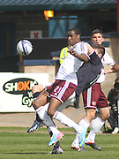 Michael Ngoo and Declan Gallagher - Dundee v Heart of Midlothian - Clydesdale Bank Scottish Premier League at Dens Park .. - © David Young - www.davidyoungphoto.co.uk - email: davidyoungphoto@gmail.com