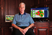 Jon Schultz, president of ezLocator, poses for a portrait at his home office in Richardson on Thursday, March 21, 2013. (Cooper Neill/The Dallas Morning News)