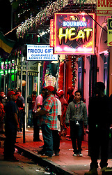 03 Feb 2013. New Orleans, Louisiana USA. .Bourbon Street strip Club. Bourbon Heat Gentlemen's club in the heart of the French Quarter..Photo; Charlie Varley