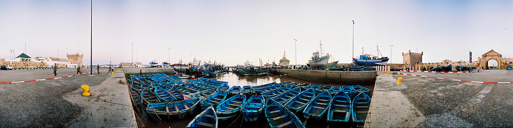 Fishing boats in the port of Essaouira, Morocco