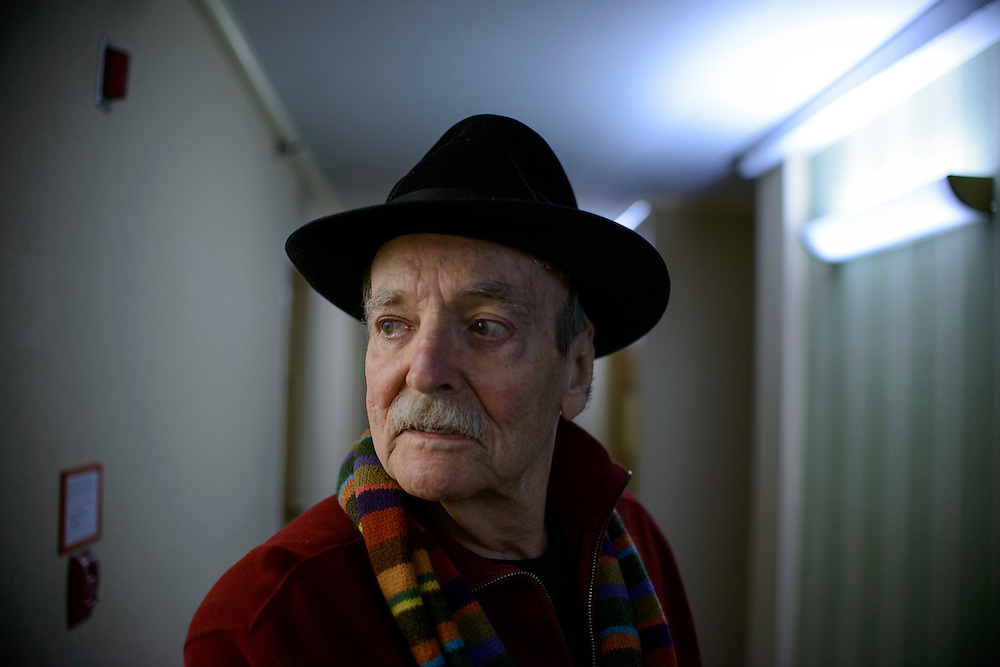 "Photo by Matt Roth..Writer William ""Bill"" McPherson is photographed in and around his apartment in Washington, D.C. on Thursday, December 20, 2012. His book ""Testing the Current"" is being rereleased by the New York Review of Books. It was originally released by Simon & Schuster in 1984."