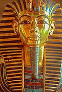 EGYPT, CAIRO, ANCIENT ART Museum of Egyptian Antiquities; King Tut's (Tutankhamun) golden Funerary Mask