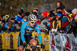 Wietse BOSMAN (9,BEL) 1st lap at Men UCI CX World Championships - Hoogerheide, The Netherlands - 2nd February 2014 - Photo by Pim Nijland / Peloton Photos