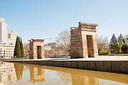 Templo de Debod (Debod Temple), An Egyptian temple relocated to Parque del Oeste, Madrid, Spain