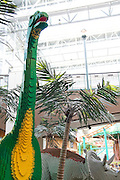 "Minnesota, USA, Minneapolis, LEGO Dinosaurs in the ""Mall of America"" in Minneapolis November 2006"