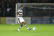 Forest Green Rovers Ethan Pinnock(16) passes the ball during the Vanarama National League match between Aldershot Town and Forest Green Rovers at the EBB Stadium, Aldershot, England on 4 October 2016. Photo by Shane Healey.