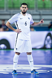 Kevin Ramirez of France during futsal match between Spain and France at Day 2 of UEFA Futsal EURO 2018, on January 31, 2018 in Arena Stozice, Ljubljana, Slovenia. Photo by Urban Urbanc / Sportida