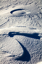 """Snow Patterns 3"" - Photograph of patterns in the snow, created by wind."