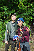 Jonah from Upstate New York and Barbie from California. Preparing for the Rainbow Gathering in the Green Mountain National Forest near Mount Tabor, Vermont. 10,000 people are expected for the July 4th Weekend.