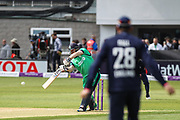 Paul Stirling of Ireland finds a boundary during the One Day International match between England and Ireland at the Brightside County Ground, Bristol, United Kingdom on 5 May 2017. Photo by Andrew Lewis.