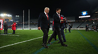 Rugby Union - 2017 British & Irish Lions Tour of New Zealand - The Blues vs. British & Irish Lions<br /> <br /> Warren Gatland walks off after losing the match at Eden Park, Auckland.<br /> <br /> COLORSPORT/LYNNE CAMERON