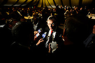 Major League Baseball Commissioner Bud Selig talks to reporters at The John McLendon Minority Athletics Administrators Awards Luncheon at Cleveland State University, December 14, 2007...