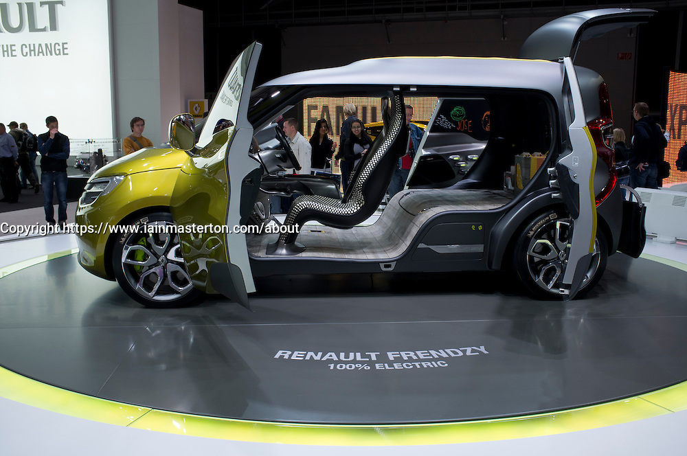 Renault Frendzy electric  concept car at Frankfurt Motor Show or IAA 2011 in Germany