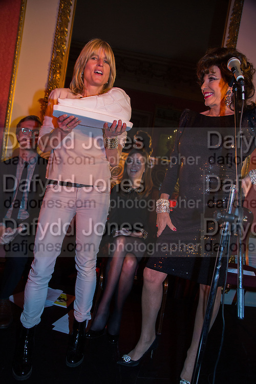 RACHEL JOHNSON; JOAN COLLINS; , The Literary Review Bad Sex in Fiction Award 2013. The In and Out Club, 4 St. james's Sq. London. 3 December 2013