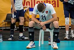 23-09-2016 NED: EK Kwalificatie Turkije - Wit Rusland, Koog aan de Zaan<br /> Turkije had het vrij lastig in de eerste wedstrijd tegen Wit Rusland maar blijven meedoen voor het EK ticket / Artsiom Haramykin #21