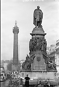 02/03/1962.03/02/1962.02 March 1962.Daniel O'Connell monument and Nelson's Pillar on O'Connell Street, Dublin. Special for Daily Express.