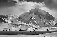 Mount Morrision in winter, near Mammoth Lakes, Mono County, Eastern Sierra, California