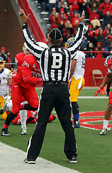 04 October 2014: Back judge: Kerry Rockwell during an NCAA FCS Missouri Valley Football Conference game between the South Dakota State Jackrabbits and the Illinois State University Redbirds at Hancock Stadium in Normal Illinois