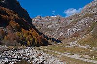 Autumn in Valle Verzasca, Ticino, Southern Switzerland.
