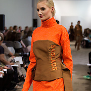 13.05.2016.           <br /> A model showcases designs by Stephen McLaughlin titled 'Badlands'  at the much anticipated Limerick School of Art & Design, LIT, (LSAD) Graduate Fashion Show on Thursday 12th May 2016. The show took place at the LSAD Gallery where 27 graduates from the largest fashion degree programme in Ireland showcased their creations. Ranked among the world's top 50 fashion colleges, Limerick School of Art and Design is continuing to mold future Irish designers.. Picture: Alan Place/Fusionshooters