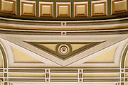 Ceiling cornice detail at Paisley Town Hall.
