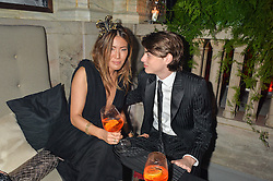 SASCHA BAILEY and MIMI NISHIKAWA at the Tatler Magazine's Kings & Queens party held at Savini at Criterion, Piccadilly, London on 1st June 2016.