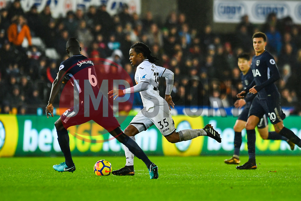 Renato Sanches of Swansea City in action - Mandatory by-line: Craig Thomas/JMP - 02/01/2018 - FOOTBALL - Liberty Stadium - Swansea, England - Swansea City v Tottenham Hotspur - Premier League