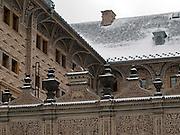 Details des Palais Schwarzenberg (tschechisch: Schwarzenbersky palac, auch Lobkovicky palac) auf dem Hradschin-Platz (Hradcanske namest&iacute;) der tschechischen Hauptstadt Prag. Am 13. Oktober 1601 nahm Tycho Brahe hier an einem Gastmahl teil und starb einige Tage danach. <br /> <br /> Detail of the Schwarzenberg Palace (Czech: Schwarzenbersky palac and also  Lobkovicky palac) at the Hradschin square in the Czech capital Prague. In this building Tycho Brahe was invited to a supper on the 13th of October 1601 and died a view days later.