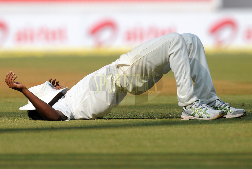 Varun Aaron of India during a break on the 2nd day of the 3rd test match between India and The West Indies held at Wankhede Stadium in Mumbai, India on the 22nd November 2011..Photo by Pal Pillai/BCCI/SPORTZPICS