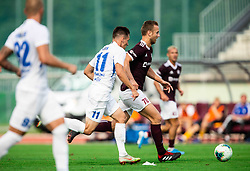Aleš Mertelj of Triglav during football match between NK Triglav and NK Celje in 7th Round of Prva liga Telekom Slovenije 2019/20, on August 25, 2019 in Sports park, Kranj, Slovenia. Photo by Vid Ponikvar / Sportida