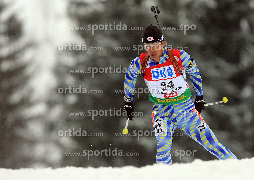 Hidenori Isa (JPN) at Men 20 km Individual at E.ON Ruhrgas IBU World Cup Biathlon in Hochfilzen (replacement Pokljuka), on December 18, 2008, in Hochfilzen, Austria. (Photo by Vid Ponikvar / Sportida)