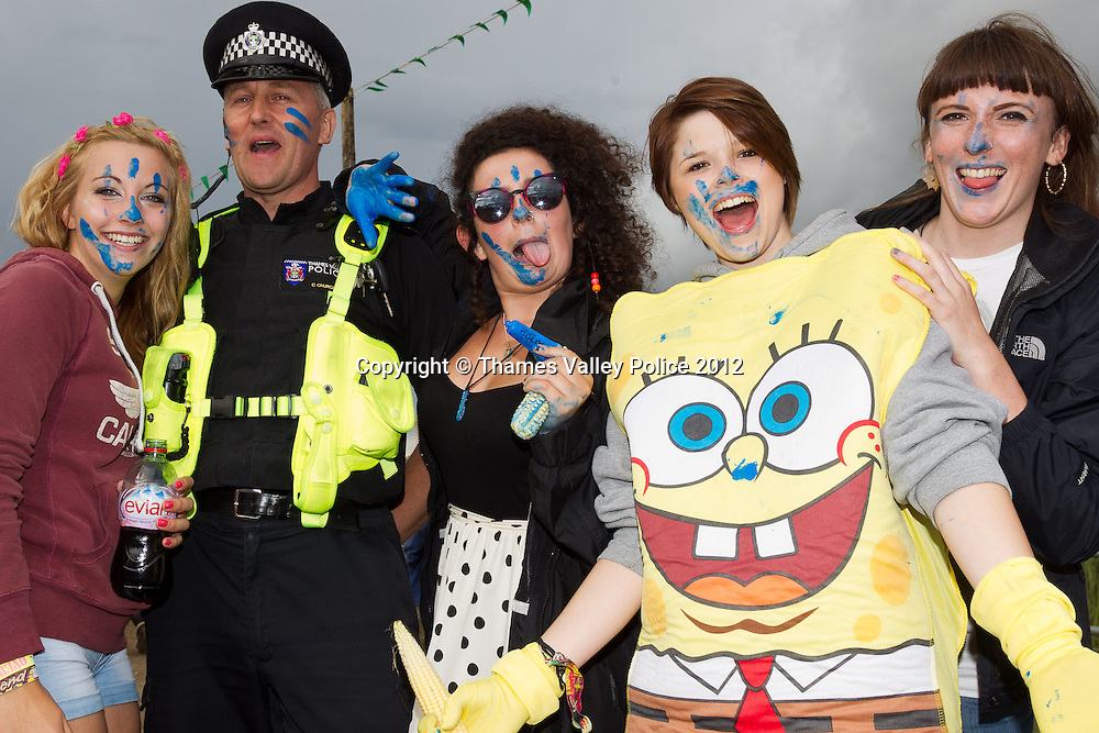 Thames Valley Police at the Reading Festival 2012. Reading, UNITED KINGDOM. August 25 2012. <br /> Photo Credit: MDOC/Thames Valley Police<br /> &copy; Thames Valley Police 2012. All Rights Reserved. See instructions.